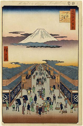 『名所江戸百景』する賀てふ(出典:wikipedia)