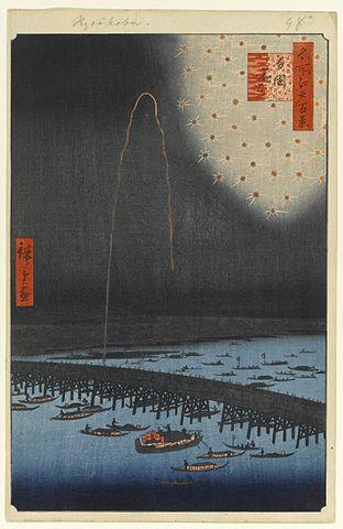 『名所江戸百景』両国花火(出典:wikipedia)