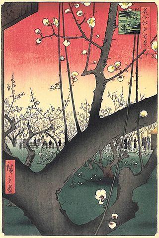 『名所江戸百景』の傑作『亀戸梅屋舗』(出典:wikipedia)
