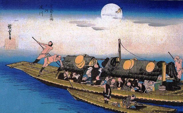 京都名所之内:淀川(出典:wikipedia)