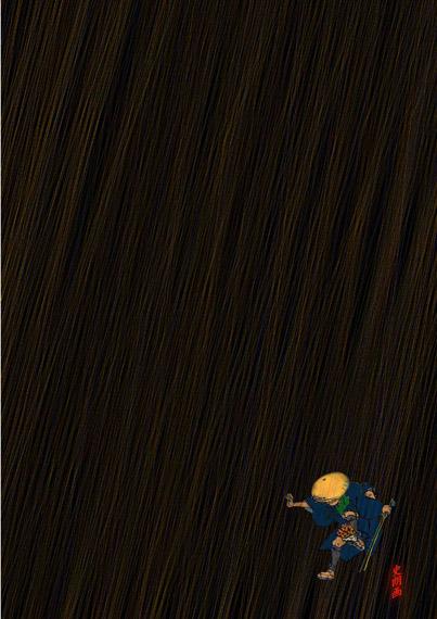 """『雨が降ろうがあの釣り場へ』絵師アオキシロウの""""史朗画"""""""