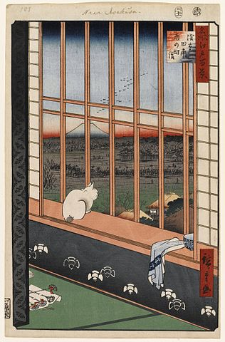 『名所江戸百景』の『浅草田甫酉の町詣』 (出典:wikipedia)