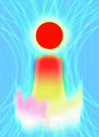 画人アオキシロウの作品『天空の富士』